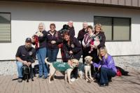 Visiting Oakville with a donation to the Guide Dog program